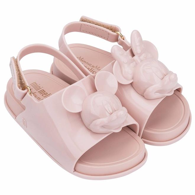 9b8c1bd2ea Sandália Mini Melissa Beach Slide Disney Rosa - Original - R  109