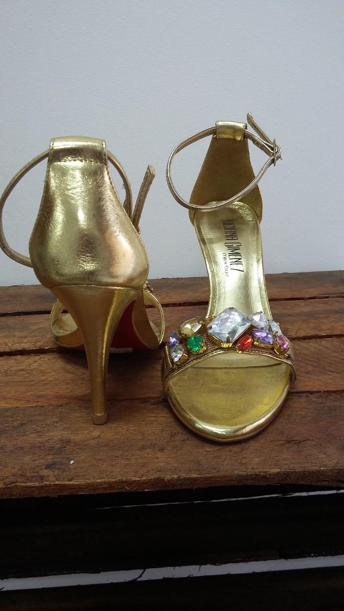 0959aabb3 Sandália Miúcha Salto Dourado - R$ 49,90 em Mercado Livre