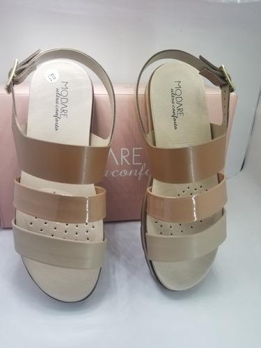 sandalia modare ultra confort beige/nude/camel