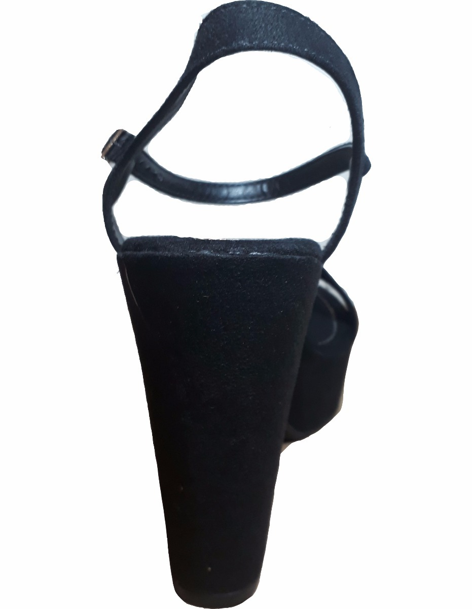63bb980b4 sandália moleca camurça salto grosso 11 cm - preto. Carregando zoom.