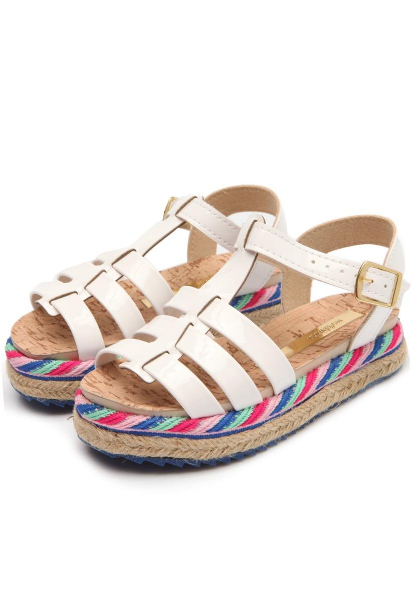 8891211fd sandália molekinha menina branca 2305.213 verniz tratorada. Carregando zoom.