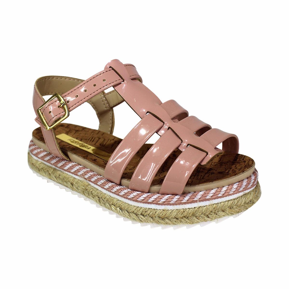 d4d522b85 sandália molekinha verniz premium - rosa - frete grátis. Carregando zoom.