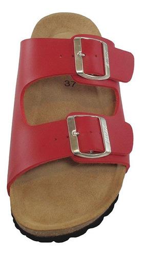 sandalia mujer alex rojo, hecho en españa, $37.500 oferta