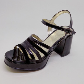 Bajo Sandalia Bajas Fiesta Charol Gliter Zapato Mujer Taco uTiOXPkZ