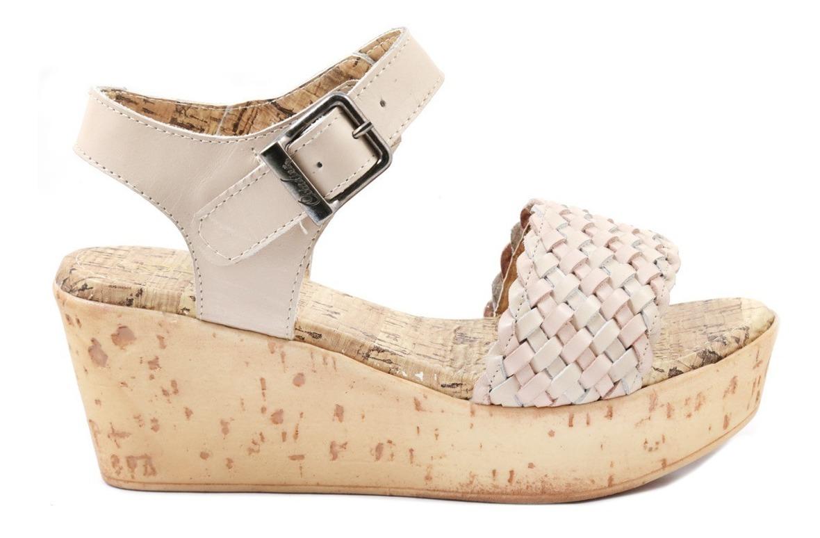 Mujer Sandalia Plataforma Trenzado Hebilla Cuero Gala Moda 8nOXw0Pk