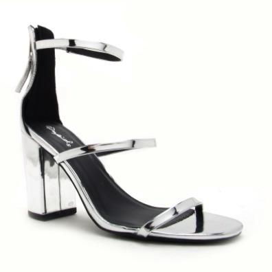 sandalia mujer qupid zapato abierto metálico plata rosa dama