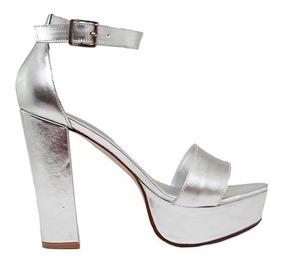 Zapatos Mujeres Tacones Brillantes Plateados Mov0nwn8 Con Sandalias pGqzVSUM