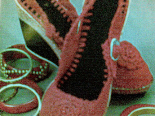 sandalia mujer tejida a mano