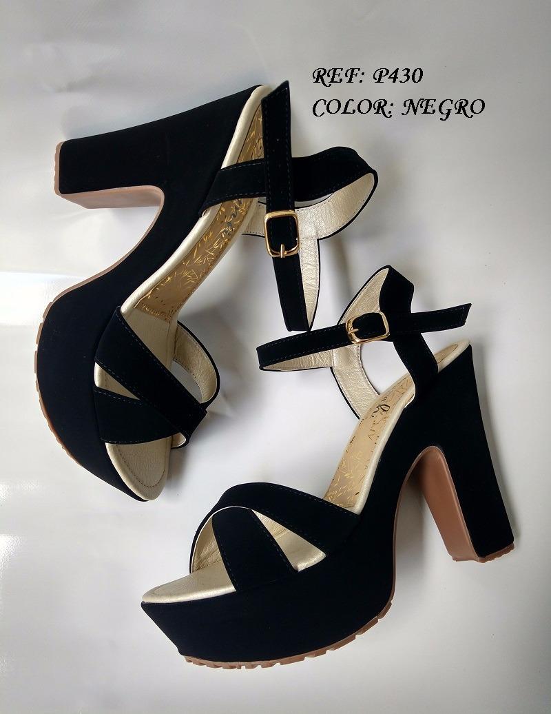 bae64159 sandalia negra de tacón 7 1/2 zapatos altos elegantes moda. Cargando zoom.