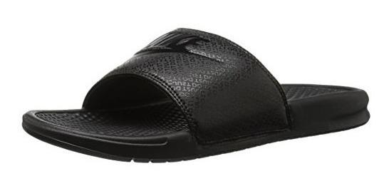 Sandalia Nike Benassi Just Do It Slide Para Hombre, Negra