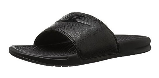 Sandalia Nike Benassi Just Do It Slide Para Hombre, Negra,