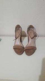 8557c6a329 Sandalia Nude E Dourada Datelli - Sapatos no Mercado Livre Brasil