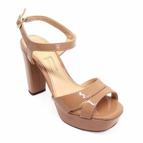 895dd5ab22 Salto Meia Pata Nude Feminino Plataforma - Sapatos para Feminino ...