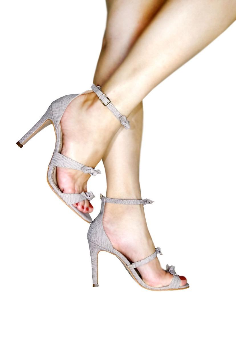 0b3ff5600d sandália nude salto festa 3 laços confortável promoção. Carregando zoom.
