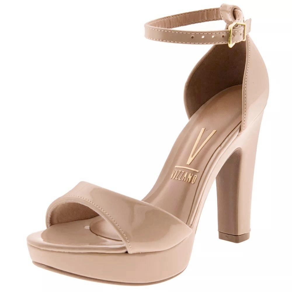 380337ef7 sandalia nude verniz salto alto salto grosso meia pata. Carregando zoom.