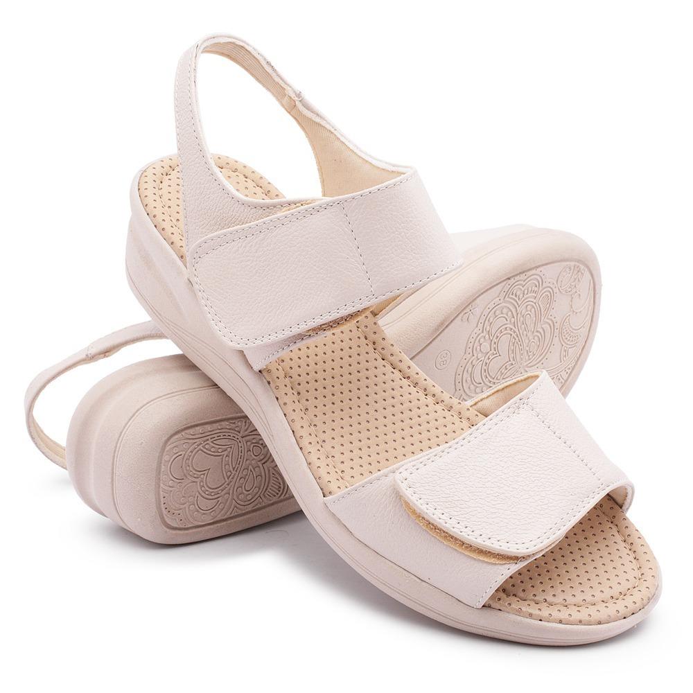 a3d36709ac sandália ortopédica feminina confort dores nos pés inchaço. Carregando zoom.