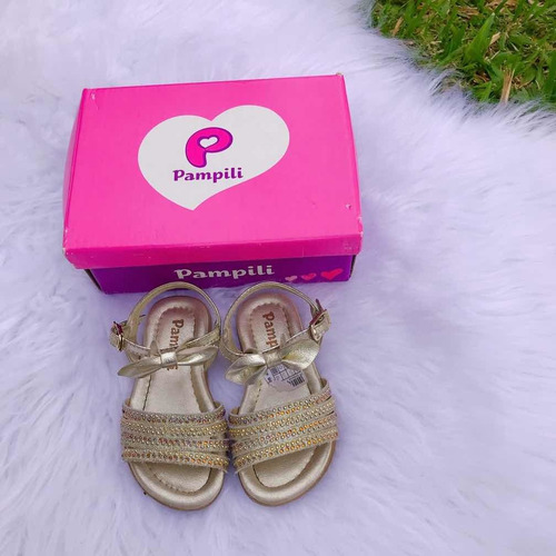 sandália pampili dourado menina , confortável