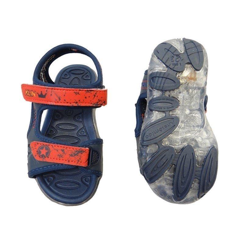 d2bfccad2 sandalia papete baby light 132.031 - klin (22) - marinho/ver. Carregando  zoom.