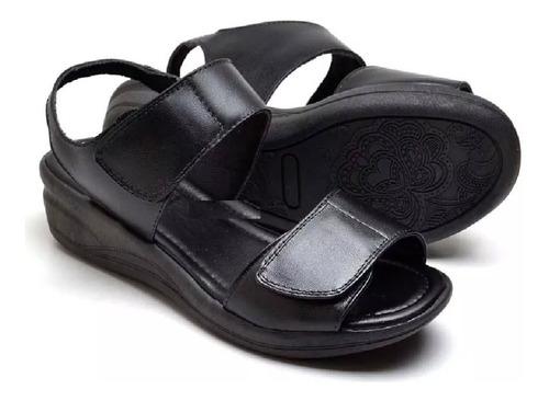 sandália papete em  couro ,esporão regulável pés  inchados