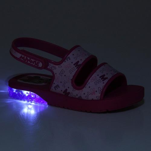 sandália papete grendene mickey minnie com luz led 21672