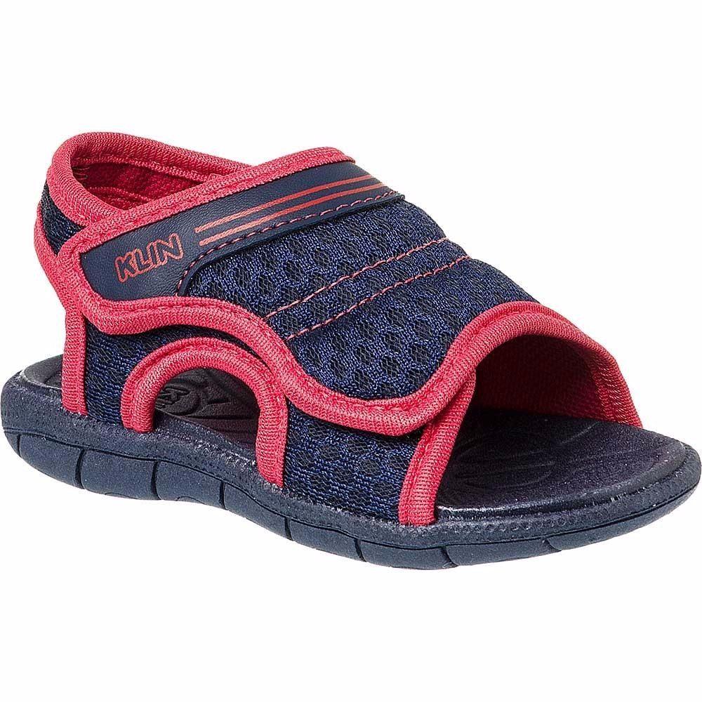 9eaf56642de56 sandália papete infantil menino klin tic tac velcro largo. Carregando zoom.