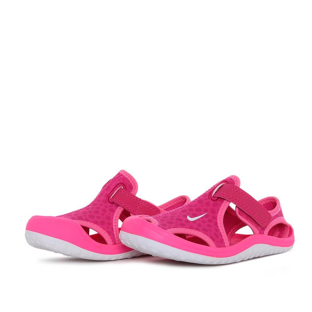 c9d80fd84 Sandália Papete Nike Infantil Sunray Protect Td Rosa - R$ 129,90 em ...