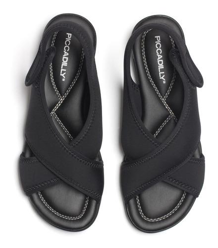sandália papete piccadilly 517019 elastano c/ amortecimento