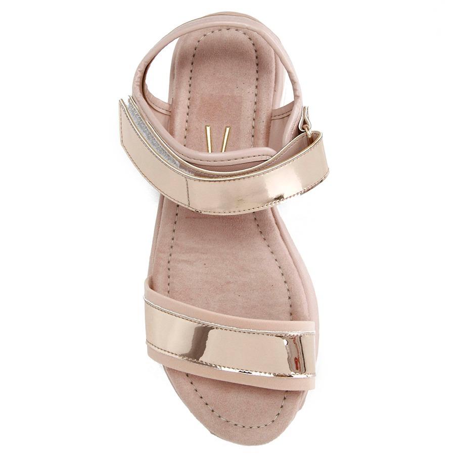 1432cc7d39 sandália papete vizzano flatform - rosa. Carregando zoom.