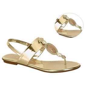 0f5abed4fa Rasteira Beira Rio Tira Metalizada - Sapatos com o Melhores Preços no  Mercado Livre Brasil