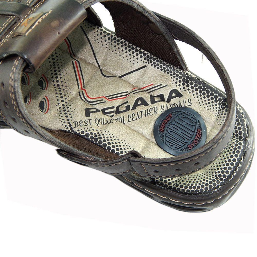 d5b55e299 sandalia pegada masculina couro cravo gel 30615-09 conforto. Carregando  zoom.