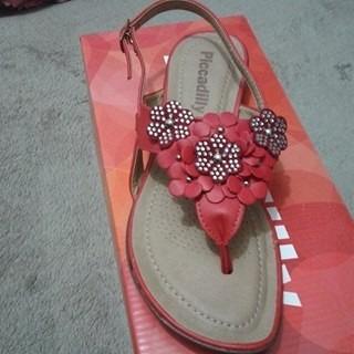 sandália piccadilly napa vermelha 418004