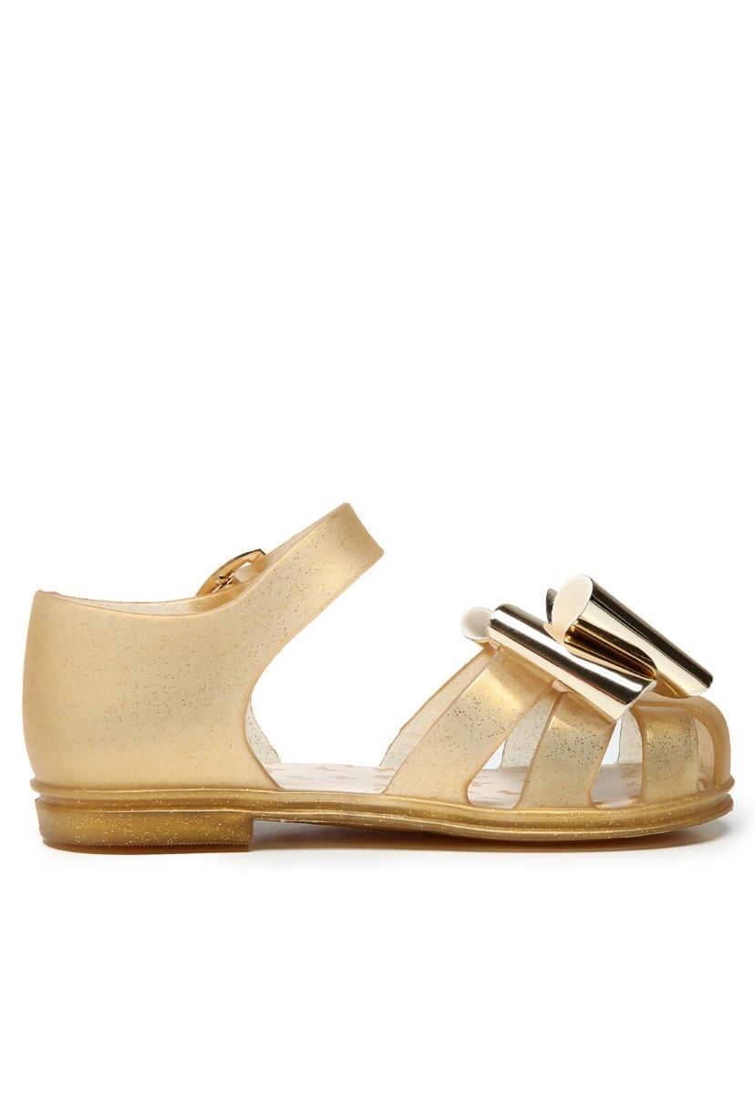 Sandália Pimpolho Colorê Dourado Glitter Menina Tamanho 24 - R  35 ... 5b58b42559c7d