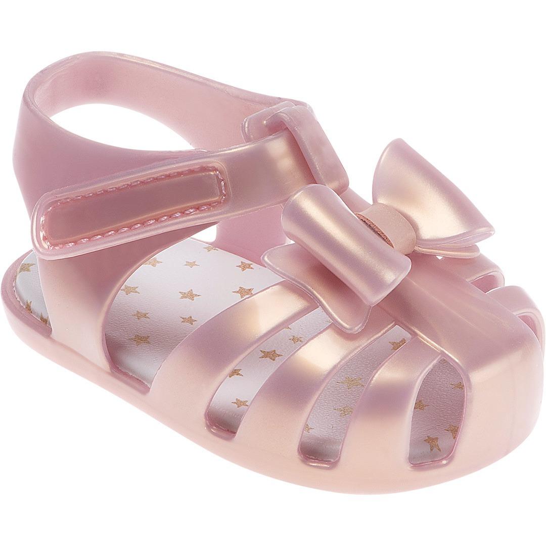 eb4a2183f8 sandália pimpolho para bebê menina rosa perolado. Carregando zoom.