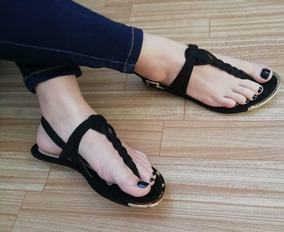 Moda Sandalia Trenza Dama Plana Zapatos gbf67yY