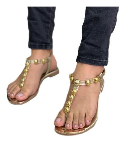 sandalia plana para dama hermosas calidad nacional