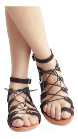 Plana Para Sandalia Fashion Gladiadora Mujer Laily thdsQrC