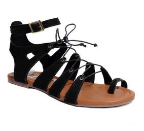 Gladiadora Mujer Sandalia Plana Fashion Para Laily DH9IE2