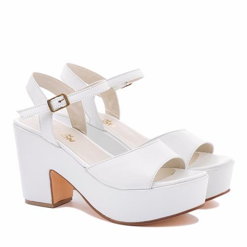 sandalia plataforma 100% cuero art:501 calzados tallon