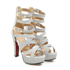 8d586e959b Sandalia Plataforma Samba Gladiadora - Sapatos no Mercado Livre Brasil