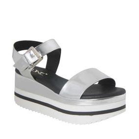 Zapatos Plateadas Sandalias De Bcbg Zapatillas Vestir Plataformas v0Nm8nwO