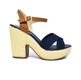 e57a1e077 Sandálias e Chinelos Femininas Sandálias Azul-escuro com o Melhores Preços  no Mercado Livre Brasil