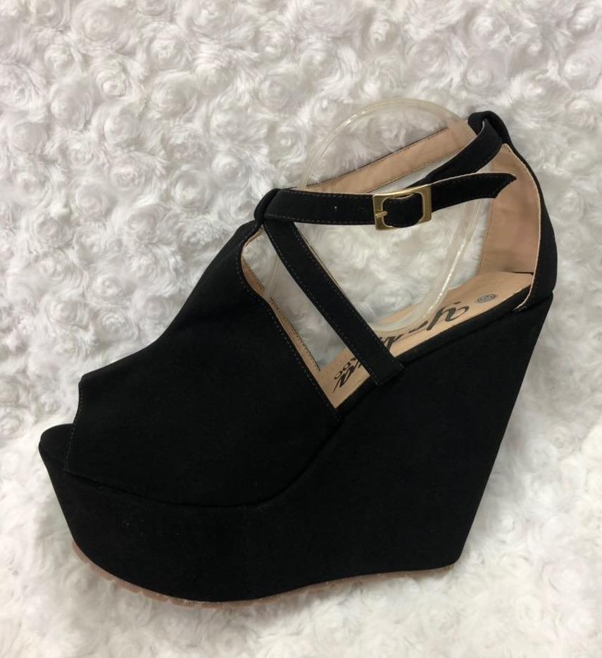 816b03006406f sandalia plataforma negra color negro mujer envio gratis. Cargando zoom.