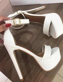 c61ec1fc3 Sandalia Prata Salto 15 Cm - Sapatos com o Melhores Preços no Mercado Livre  Brasil