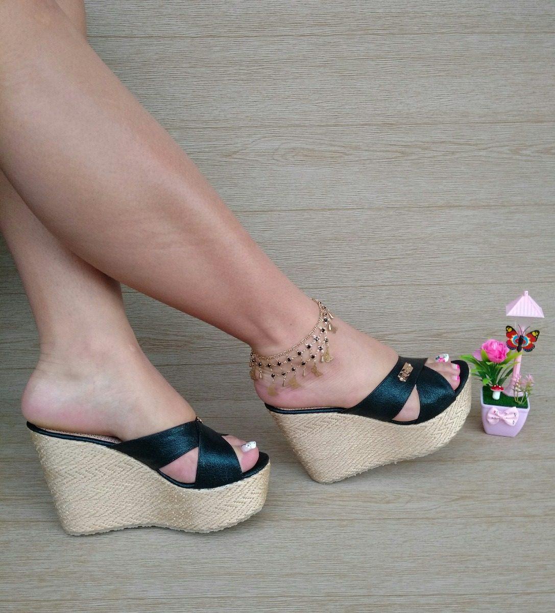 ce391b0c609 sandalia plataforma yute negra zapatos elegantes para fiesta. Cargando zoom.