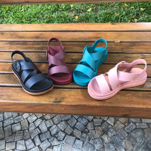 sandalia plataforma zaxy street flatform ella shop brasil