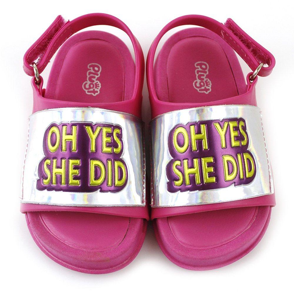 sandália plugt mini bizz oh yes she did infantil r 59 99 em