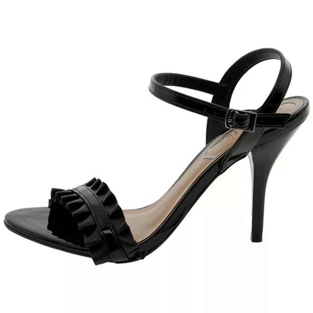 e419b8814 sandalia preta salto fino alto festa beira rio conforto. Carregando zoom.