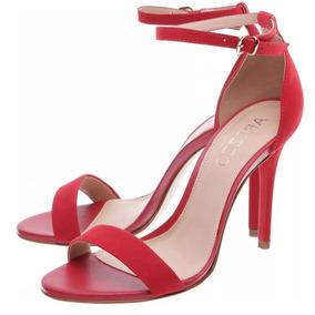 cfd1767e2 Linda Sandália Quadrada Vermelha Tiras Diferente Salto Fino - Sapatos no  Mercado Livre Brasil