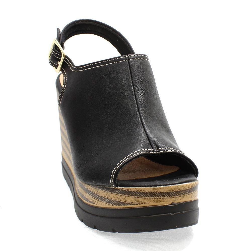 8ede221df7 sandália quiz anabela preta feminina. Carregando zoom.