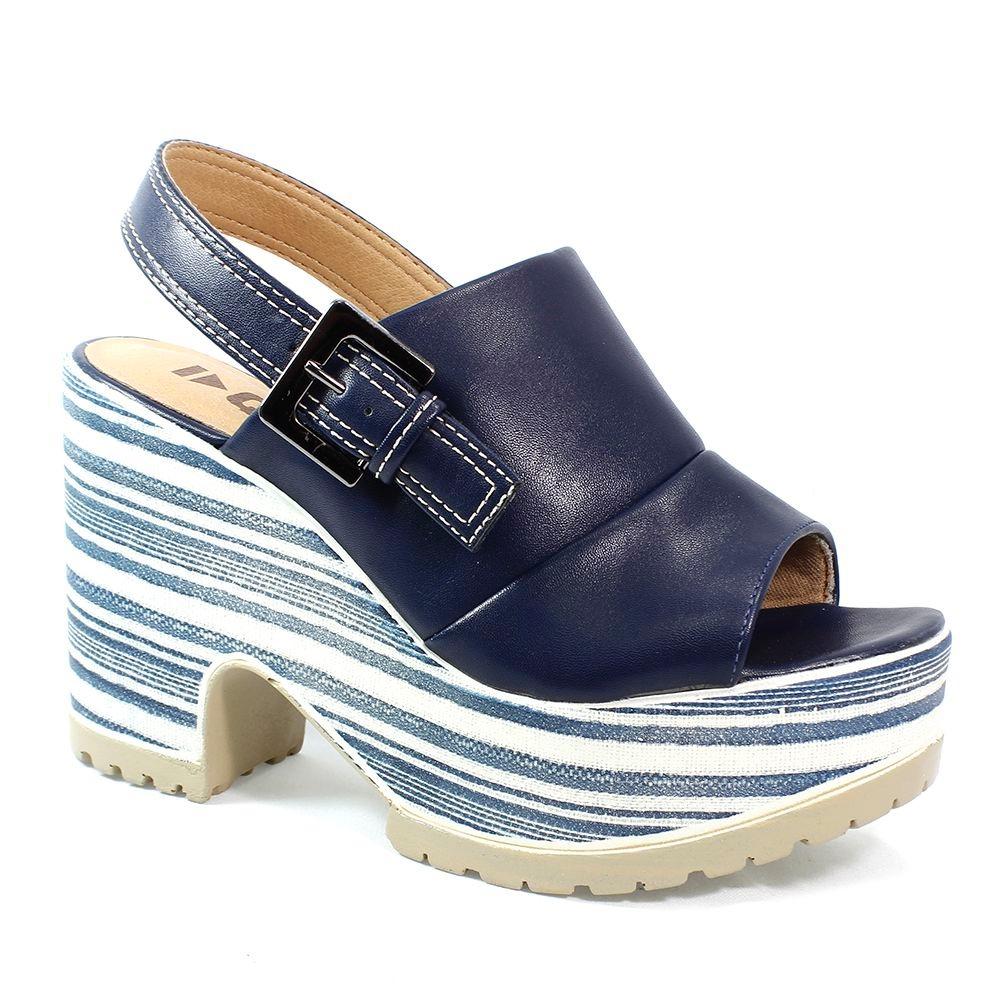 22bb8e3375 sandália quiz plataforma azul feminino. Carregando zoom.